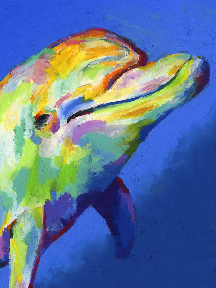 Dolphin Colorful Oil Painting – SeaLife.gifts