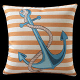 Nautical Anchor Pillow Cover