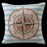 Nautical Compass Pillow Cover