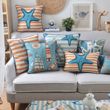 Nautical Starfish Pillow Cover