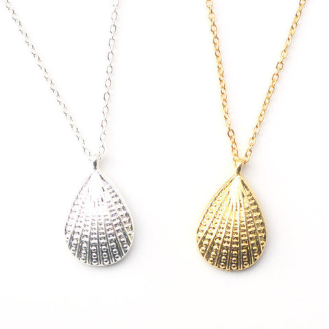 Seashell Gold or Silver Pendant Necklace