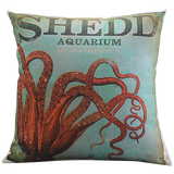 Vintage Octopus Pillow Cover