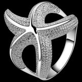 Starfish Textured Silver Ring