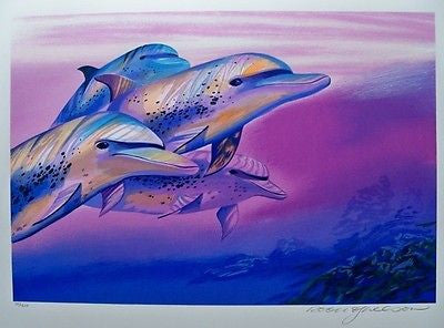 Dolphin Decorative Oil Painting