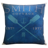 Vintage Oar Pillow Cover