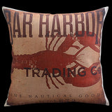 Vintage Lobster Pillow Cover