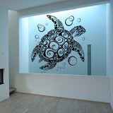 Tribal Sea Turtle Vinyl Wall Decal