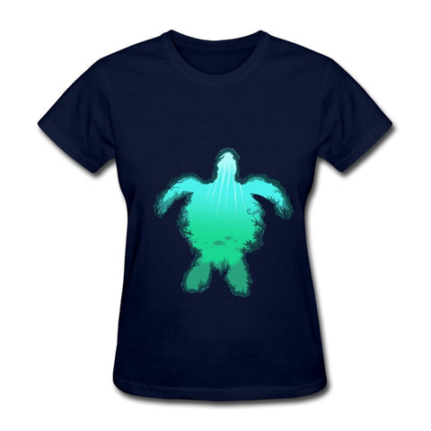Reef Sea Turtle Design Women's T Shirt