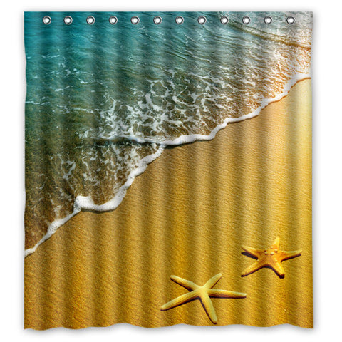 Starfish Beach Shower Curtain