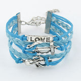 Love Octopus Leather Love Bracelet