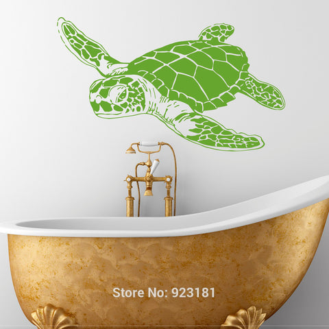 Turtle Monotone Vinyl Wall Decal