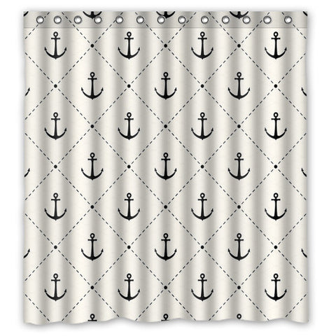 Anchor Pattern Shower Curtain