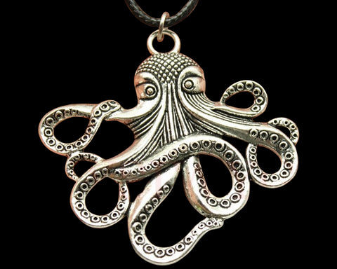 Antique Octopus Pendant Necklace