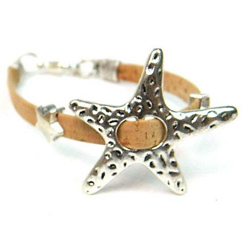 Natural Cork Starfish Bracelet