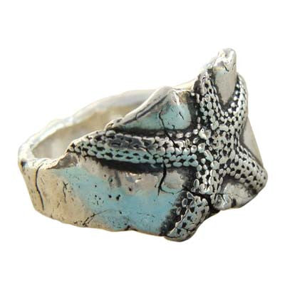Starfish Recycled Silver Ring
