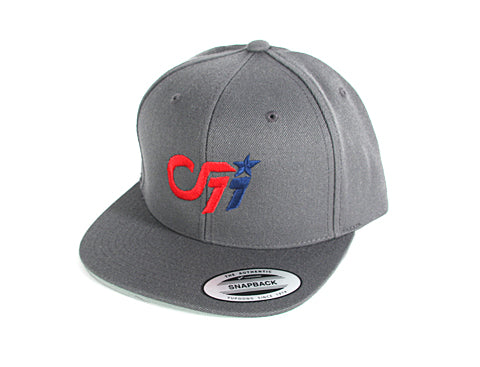 B 0001b CF11 Connor Fields FanWear Snapback - Grey Blue/Red