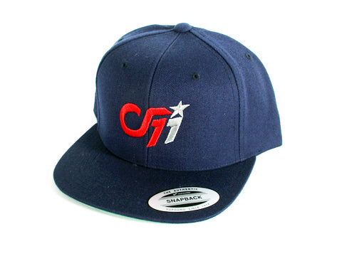 B 0001a CF11 Connor Fields FanWear Snapback - Navy White/Red