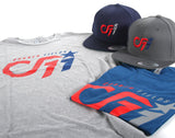 A 01 CF11 FanWear Tee - Heather Grey Red/Blue