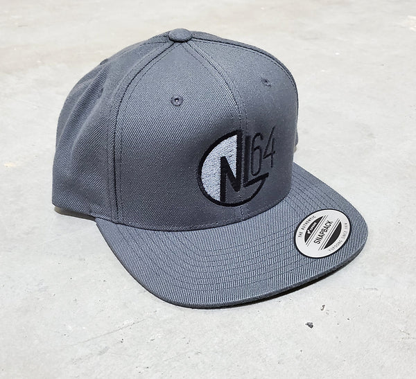 B 0001d NL64 Nic Long FanWear Hat - Grey Black/Grey Logo
