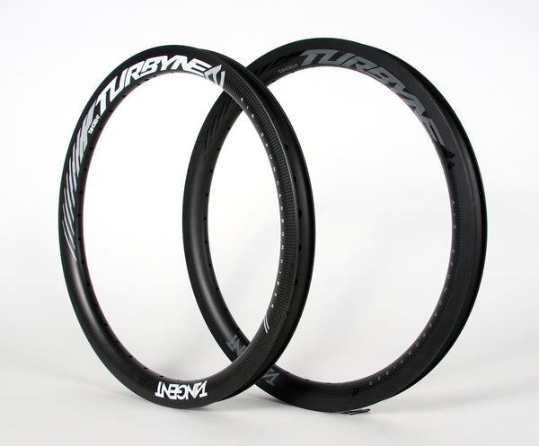 "Tangent Turbyne 1.75 Carbon Rims - W/Braking Surface - For ""V"" Brakes"