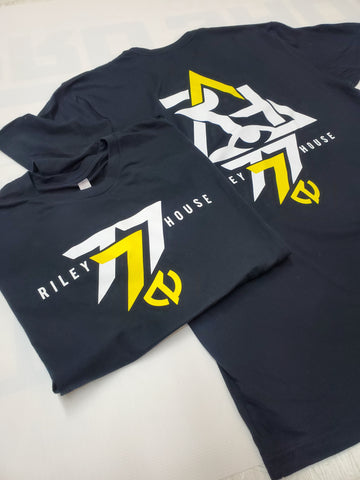 A 03 RH777 Riley House FanWear Tee - Black Yellow/White