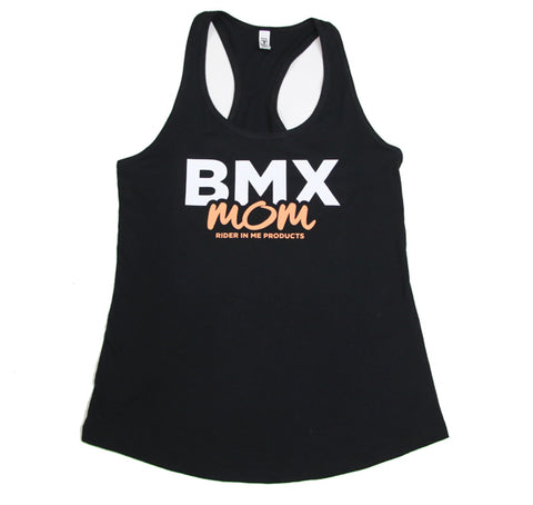 Z 00301 RIM (Rider In Me Products) Women's Tank Top Black/White/Coral