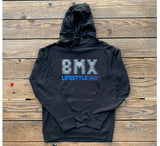 New RIM Black BMX LIFESTYLE Hoodie Black/White/Blue