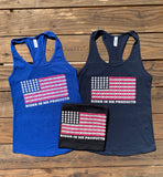 New RIM Women's Tank Top USA/Chain Flag