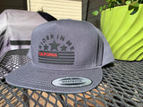 RIM Snapback GREY Hat with NEW RIDER IN ME BLACK/RED Logo