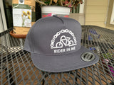 New RIM Snapback GREY Hat with NEW RIDER IN ME WHITE Logo