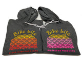 New RIM BIKE LIFE Soft Hoodie Heather Grey /Multicolor