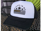 RIM Bling Bling Valucap Foam Trucker Black/White Hat with NEW RIDER IN ME BLACK Logo