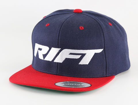 B 001 Snapback - Rift Logo - Blue/Red/White