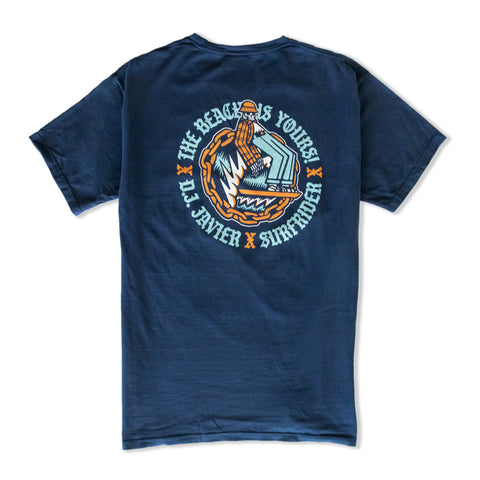 DJ Javier The Beach Is Yours Tee (Navy)