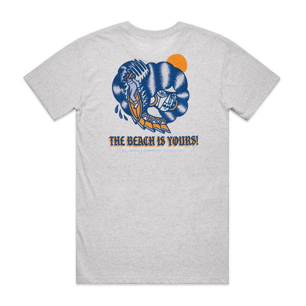 DJ Javier The Beach Is Yours Tee (White Heather)