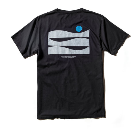 Surfrider New Horizons Upcycled Tee - Black