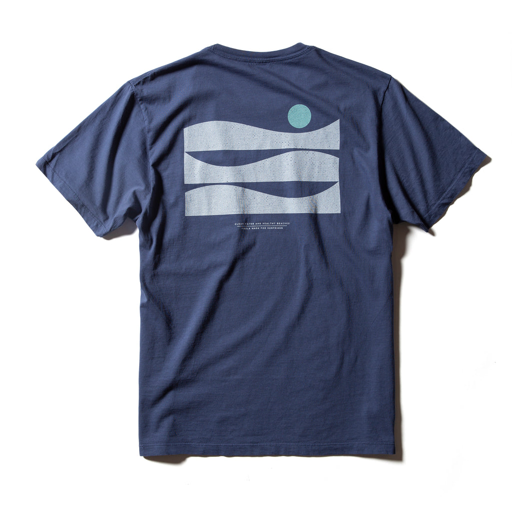 Surfrider New Horizons Upcycled Tee - Navy