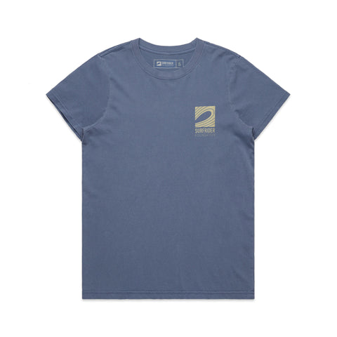 Women's Faded Logo T-Shirt (Navy)
