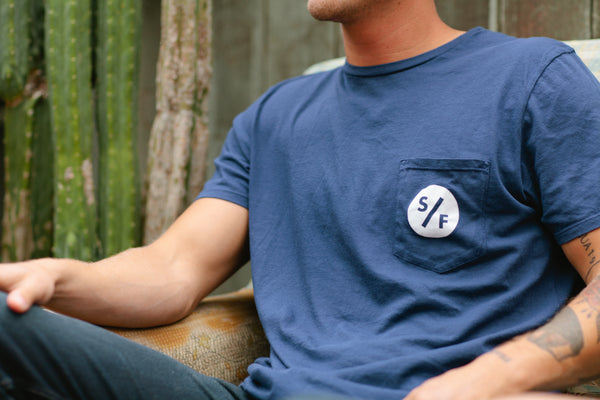S/F Pocket Tee (Navy)