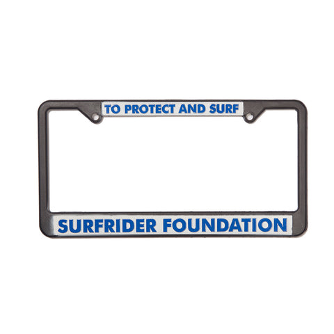 Surfrider Plastic License Plate Frame