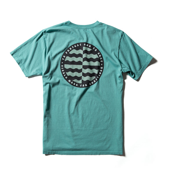 Surfrider Cycle Of Unity Upcycled Tee - Teal