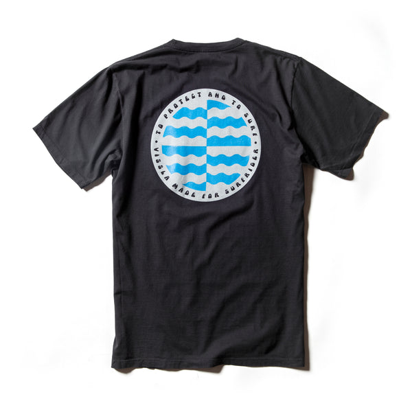Surfrider Cycle Of Unity Upcycled Tee - Black