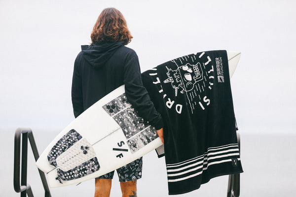 SlowTide x Surfrider #DrillingIsKilling Woven Beach Towel *Limited Edition*