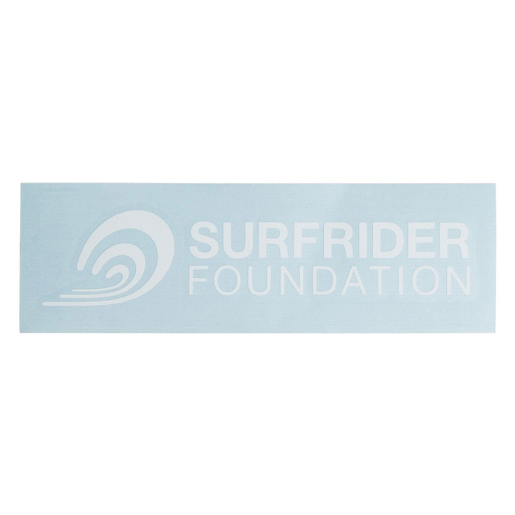 Surfrider Horizontal Logo DieCut Vinyl Sticker The Surfrider - Die cut vinyl stickers