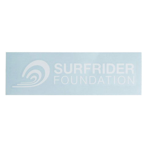 Surfrider Horizontal Logo Die-Cut Vinyl Sticker