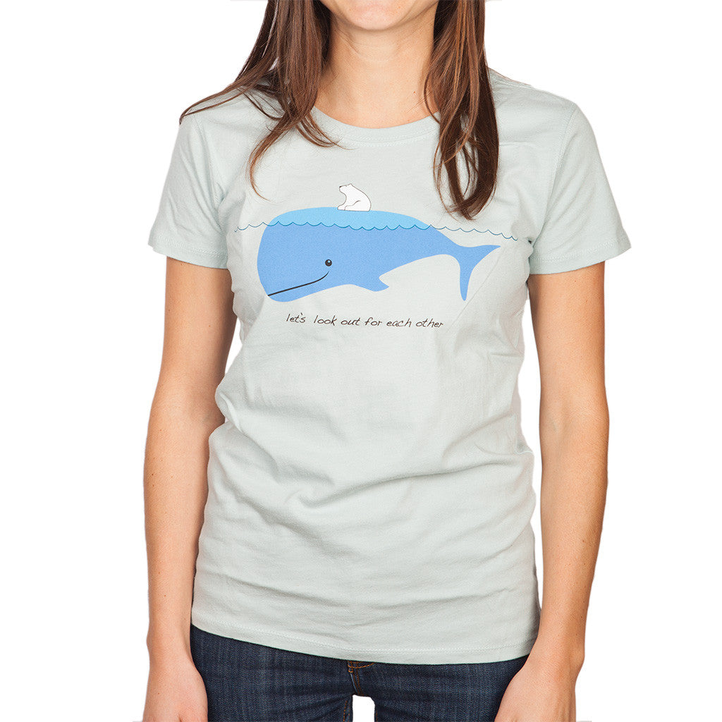 Polar Bear & Whale Womens T-shirt