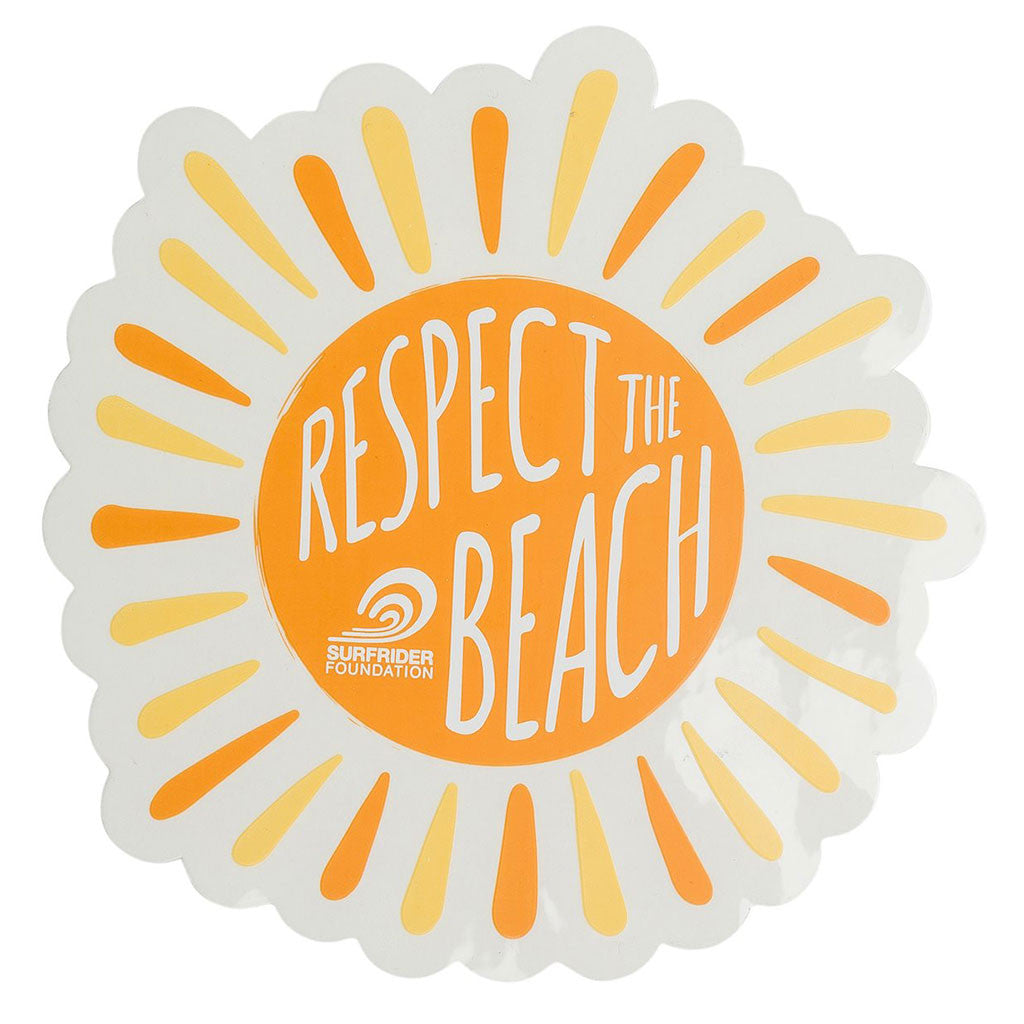 Respect the Beach Sticker