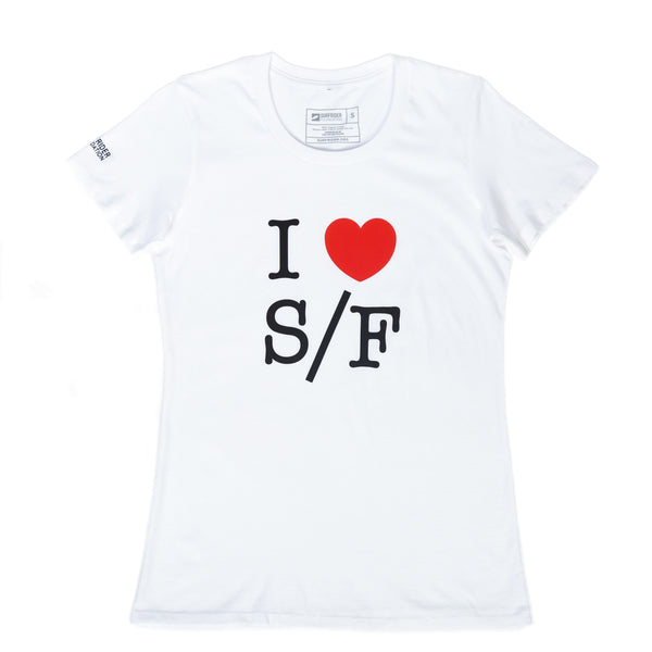 I Love S/F T-Shirt (Womens)