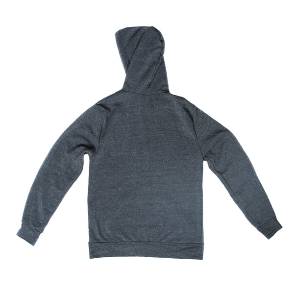 USOA Logo Embroidered Zip Up Hoodie (Black Heather)
