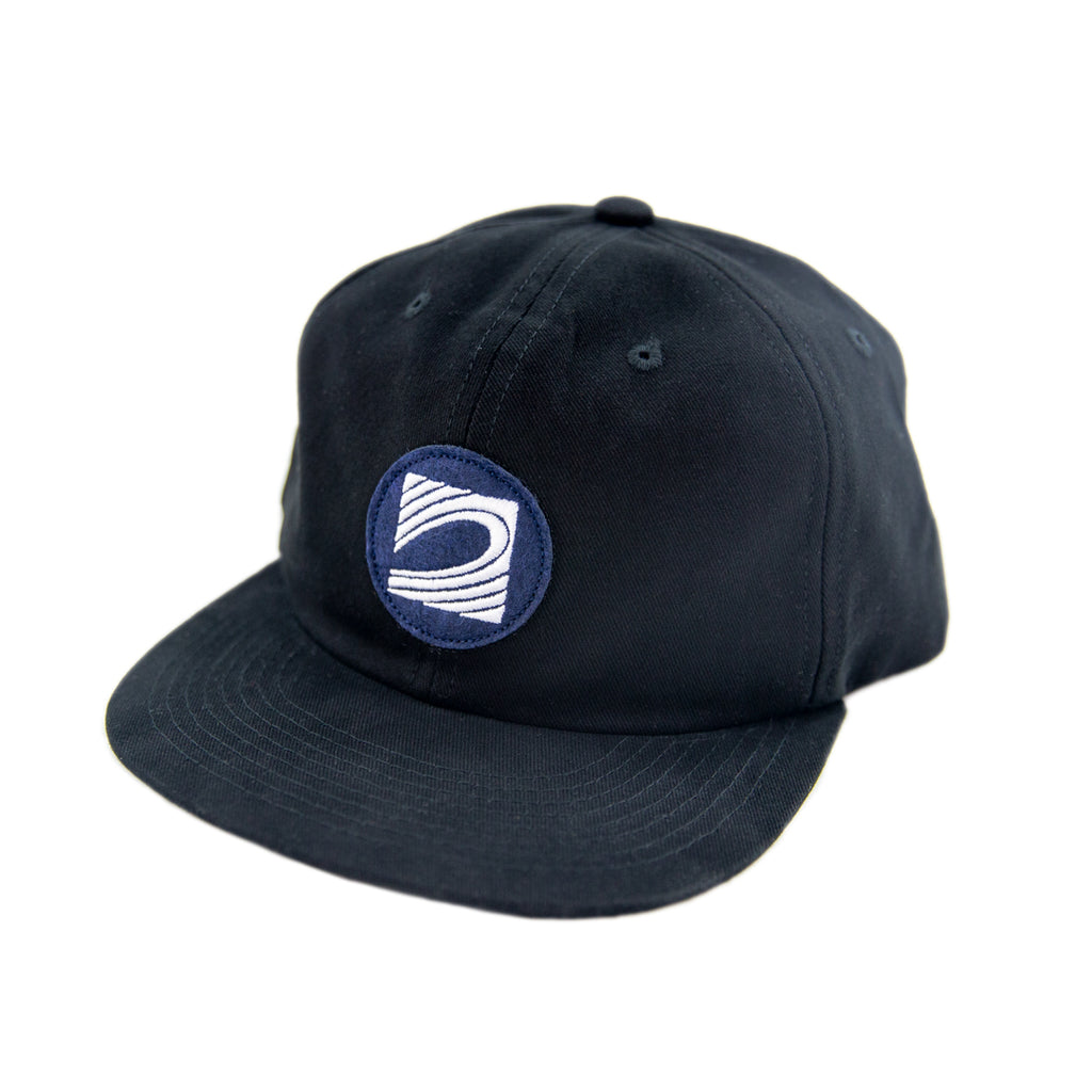 Wave Logo Unstructured Hat - Black